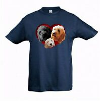 Cockapoo in a Heart Kids Tshirt Cockerpoo Dog Childrens Tee Shirt Xmas Gift