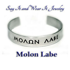 Molon Labe Handmade Engraved and Polished Bracelet