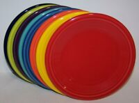 NEW SET LOT OF 8 FIESTAWARE MIXED COLORS SALAD PLATES FIESTA