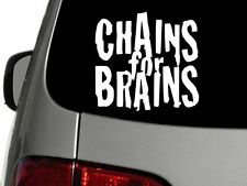 Chains for Brains Disc Golf 6 x 5 Vinyl Decal Car Sticker Wall Truck