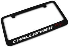 DODGE CHALLENGER R/T License Plate Frame Black Powder Coated Metal Engraved