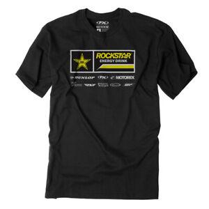 Factory Effex Men's Rockstar Racewear T-Shirt Black All Sizes
