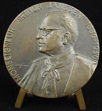 Médaille religieuse Monseigneur Arthur Janssen 1886-1956 sc Jorissen 1956 medal