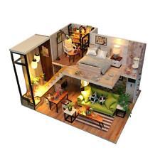 Casa de muñecas de bricolaje Muebles de madera en miniatura Casa de muñecas