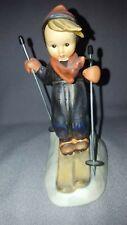 """W. Goebel """"Skier"""" Figurine With Metal Poles By W. Germany # 59 Ml Hummel"""