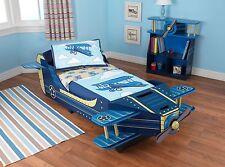 Kidkraft Airplane Toddler Wooden Bed, Kids Wooden Toddler Plane Bed