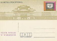 Poland prepaid postcard (Cp 569) theatre