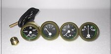 Willys MB Jeep Ford GPW Gauges Temperature Oil Fuel Amp Green Bezel Willys MB J