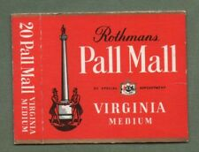 Old EMPTY cigarette packet Pall Mall size 20 red variety  #159
