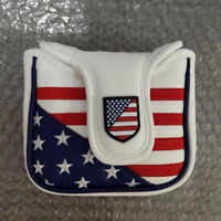 Square Mallet USA Putter Cover Golf Headcover for Taylormade Spider Tour 14*11cm