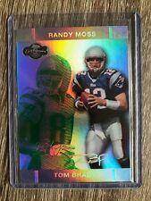 Tom Brady/Randy Moss 2007 Topps Co-Signers Gold 45/75 #4 Patriots