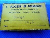 Axe de Balancier Interchangeable, pivoté, OMEGA 26,5 Balance Staff Unruhwelle