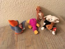 Vintage 5 Ty Teenie Beanie Babies  for fun Play Collection Lot Including 2 Cats