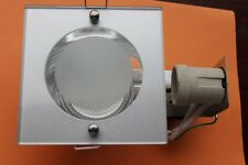Designer Recessed 120mm Square Glass Downlight 105mm cut E27 low energy 13w max