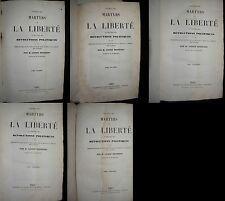 PANTHEON DES MARTYRS DE LA LIBERTE LUCIEN BESSIERES 5 vol -1848- 40 gravures