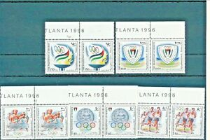 PALESTINIAN AUTHORITY 1996 SPORT ATLANTA OLYMPIC GAMES TOP OF SHEET PAIRS MNH