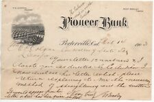 1903 Graphic Letterhead from the Pioneer Bank of Porterville CA