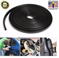 "150"" 4M All Weather Rubber Seal Strip Car Door Edge Guard Mold Trim Metal Clips"