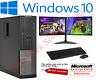 ULTRA FAST Gaming PC Bundle Intel Core i7 8GB 1TB Windows 10 GT710 DUAL SCREEN