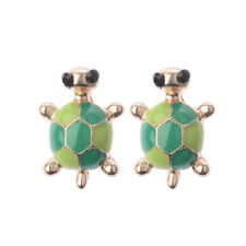 1 Pair Women Girls Fashion Cute Green Turtle Tortoise  Stud Earrings 2017 New