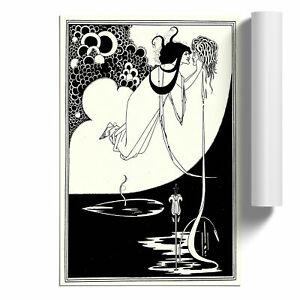 Aubrey Beardsley The Climax Poster Print Wall Art Unframed Picture Home Décor