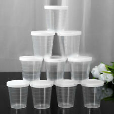 10× 30ml Medicine Measuring /Measure Cups Plastic Liquid Measuring Cup