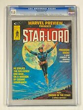 MARVEL PREVIEW #4 Marvel Comics 1976 CGC 9.0 STAR-LORD 1st Appearance