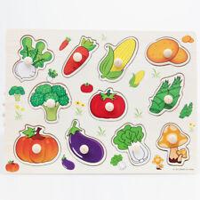 Puzzle en Bois Enfant Jeu éducatif Vegetable Jouet Cadeau pour Bébé