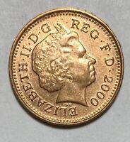 2000 United Kingdom 1 Penny Elizabeth II 4th Portrait Uncirculated Coin  (2679)