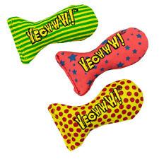Yeowww! Catnip Filled Cat Toys Stinkies Sardines Dots Stars Stripes - NO FILLER!