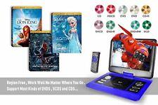 "10"" Large LCD portable DVD player HD 270° Rotation Sreen Blue Games Multi-region"