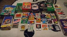 UNOPENED Vintage NFL FOOTBALL Card Lot 100+ Cards in Wax Packs BUY 4 GET 1 FREE