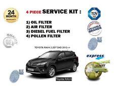 Per TOYOTA RAV4 2.2DT D4D 2012 -- > KIT Di Servizio Olio Aria Carburante Polline 4 Filtro impostato