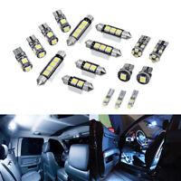 17Pcs/Set Error Free Premium White Interior LED Light Universal Bulbs Lamp
