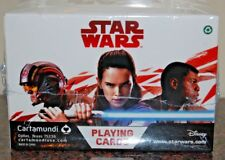 "The Last Jedi ""Heros & Villians"" Playing Cards SEALED BOX 12 TOTAL PACKS 6 EACH"