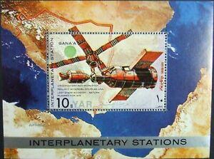 Yemen A.R.-Cosmonautc-Interplanetary Stations-1 M/Sh- MNH, YAR 048A