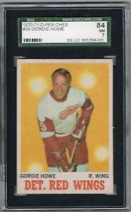 1970-71 O-Pee-Chee GORDIE HOWE # 29 (SGC 84/7 NM) NHL Hall of Fame (9031