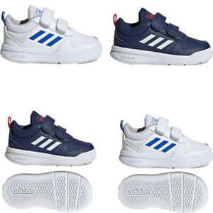 Adidas Infant Baby Boy Shoes Tensaur Leather Infants Trainers Navy Size