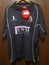 Nwt! Surridge Dark Blue England Leamington Cc Cricket Polo Shirt Man Medium