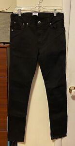 Mens Black Robert Geller Denim Skinny Jeans Size 30