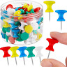 60 Pieces Giant Push Pins Thumb Tacks Steel Point 1 Inch Standard Plastic Heads