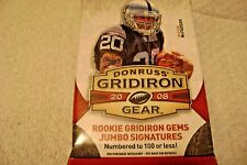 2008 Donruss Gridiron Gear Football Auto Relic or Relic Hot Pack.