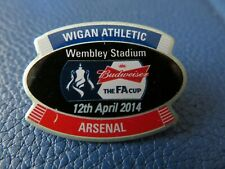 WIGAN ATHLETIC ARSENAL FA CUP SEMI FINAL 2014 OFFICIAL BADGE