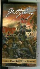 GETTYSBURG THREE DAYS OF DESTINY, Civil War, VHS video cassette tape in box
