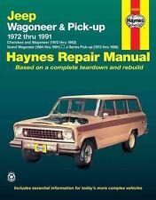 Jeep Wagoneer Grand Wagoneer Cherokee J-Series Pick-up haynes manual book jeeps