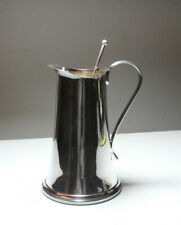 Sheffield Silver Plated Cocktail Pitcher and Stirrer Art Deco Heavy