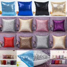 ❤ Solid Color Glitter Sequins Throw Pillow Case Cafe Home Decor Cushion Cover US