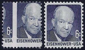 "1393 - 6c Huge 2-Way Misperf Error / EFO ""Eisenhower"" Mint NH (Stk2)"