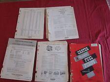 voiture américaine 1940-1962 CARTER Carburetor   150 fiches techniques