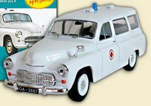 FSO Warszawa 202A Ambulance - 1/43 - DeAgostini - Cult Cars of PRL - 'S'